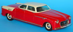 red vintage tin sedan car